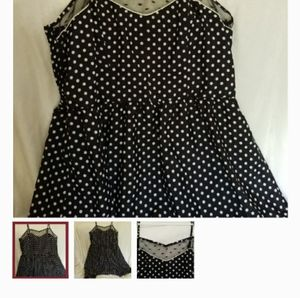 Xhilarario - XS - Made in China - Polka Dot Dress.